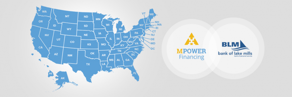 MPOWER Financing Extends Student Loan Program to All 50 States Through Partnership with Bank of Lake Mills